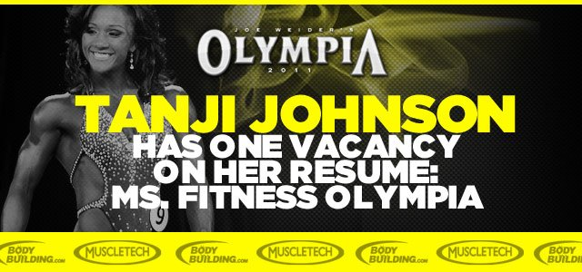 Tanji Johnson Has One Vacancy On Her Resume: Ms.Fitness Olympia
