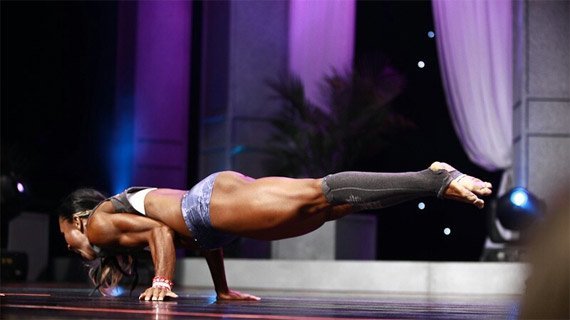 Her faith sustains her, but effort in the gym gave her this heavenly body.