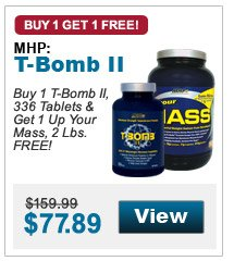 Buy 1 T-Bomb II, 336 Tablets & Get 1 Up Your Mass, 2 Lbs. FREE!