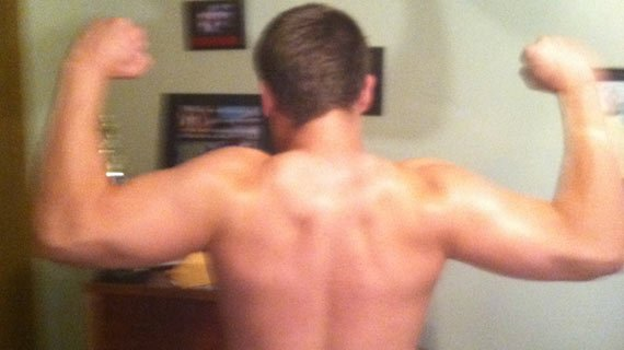 Lats that could blot the sun … if he were outdoors