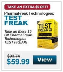 Take an Extra $5 Off PharmaFreak Technologies TEST FREAK!