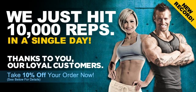 Bodybuilding.com Just Did 10,000 Reps...And We Owe It All To You!