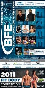 2011 Bodybuilding.com Fitness Expo Show Poster