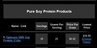 Soy Protein Sorted By Top Sellers