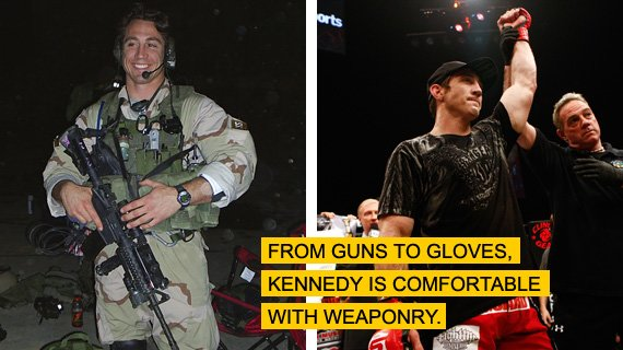 From guns to gloves, Kennedy is comfortable with weaponry