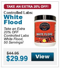 Take an Extra  20% OFF Controlled Labs White Flood, 50 Servings!