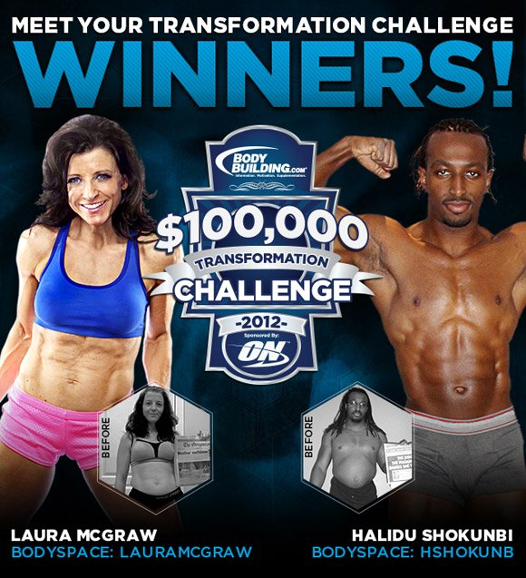 January 2012 ON $100,000 Transformation Challenge Winners Laura McGraw & Halid Shokunbi!