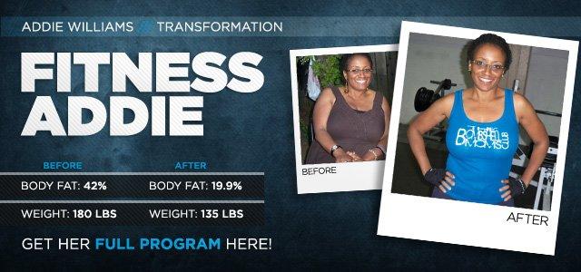 Body Transformation Fitness Addie Bodybuilding Com
