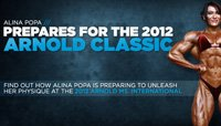 Alina Popa Prepares For The 2012 Arnold Classic