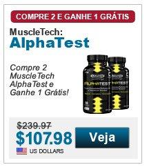 Compre 2 Muscle Tech AlphaTest e Ganhe 1 Grátis