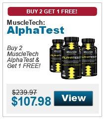 Buy 2 MuscleTech AlphaTest & get 1 FREE!