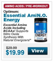Essential Amino Acids Including BCAAs! Supports Nitric Oxide Synthesis With Natural Energizers!*