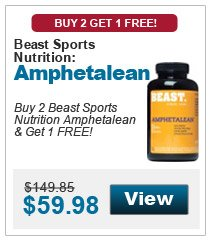 Buy 2 Beast Sports Nutrition Amphetalean & get 1 FREE!