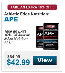 Take an extra 10% Off Athletic Edge Nutrition APE!