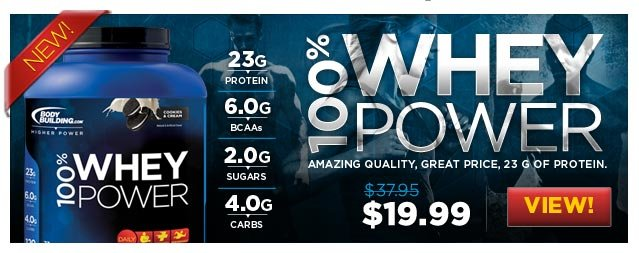 100% Whey Power - Amazing Quality, Great Price, 23g of Protein