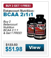 Buy 2 Betancourt Nutrition BCAA 2:1:1 & Get 1 FREE!