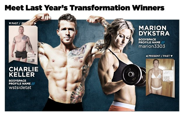 Charlie Keller and Marion Dysktra = July 2011 BSN Transformation Challenge Winners