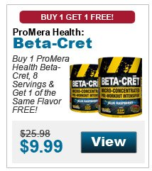 Buy 1 ProMera Health Beta-Cret, 8 Servings & get 1 of the same flavor FREE!