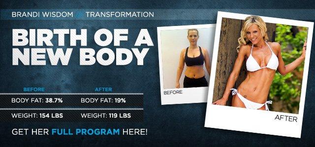 Body Transformation: Brandi Lost The Post-Pregnancy Pounds
