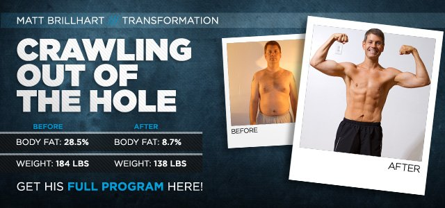 Body Transformation: Crawling Out Of The Hole