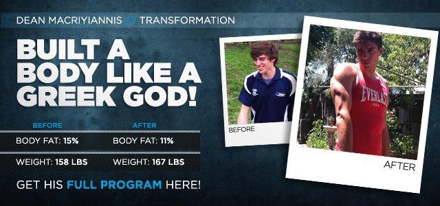 Body Transformation: Dean Built A Body Like A Greek God