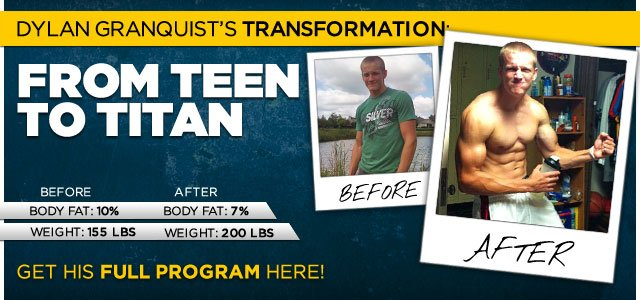 Body Transformation: Dylan Transformed From Teen To Titan