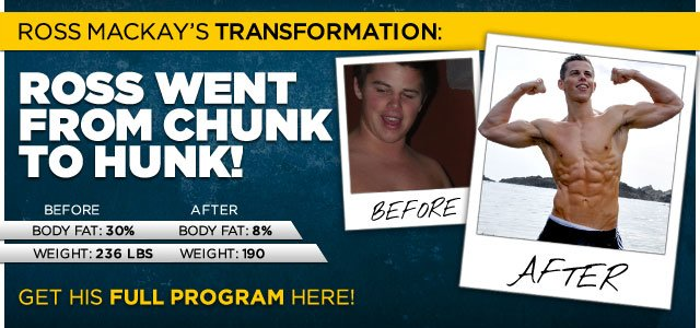 Body Transformation: Ross Went From Chunk To Hunk