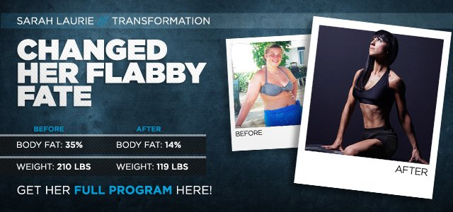 Body Transformation: Sarah Contested Her Flabby Fate