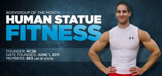 BodyGroup Of The Month: Human Statue Fitness