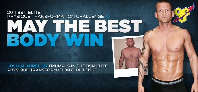 Body Transformation: Joshua Aurelius Owns The 2011 BSN Elite Physique Transformation Challenge!