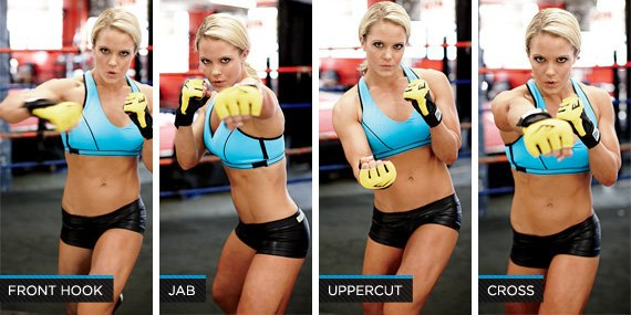 Maintain form throughout each A Boxer's Workout