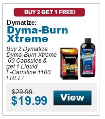 Buy 2 Dymatize Dyma-Burn Xtreme, 60 Capsules & get 1 Liquid L-Carnitine 1100 in the flavor of your choice FREE!