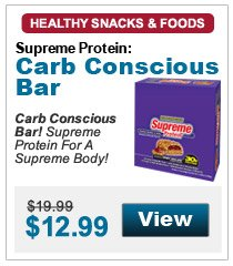 Carb Conscious Bar! Supreme Protein For A Supreme Body!