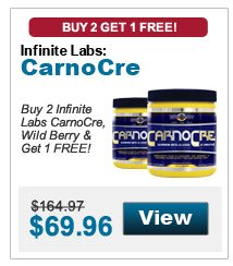 Buy 2 Infinite Labs CarnoCre, Wild Berry & get 1 FREE!
