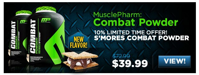 MusclePharm: Combat Powder NEW FLAVOR - 10% Limited time offer! S'Mores Combat powder