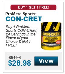 Buy 1 ProMera Sports CON-CRET, 48 Servings in the flavor of your choice & get 1 FREE!