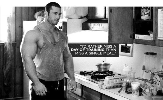 I'd rather miss a day of training than miss a single meal.