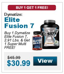 Buy 1 Dymatize Elite Fusion 7, 2.91 Lbs. & get 1 Super Multi FREE!