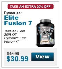 Take an extra 20% Off Dymatize Elite Fusion 7!