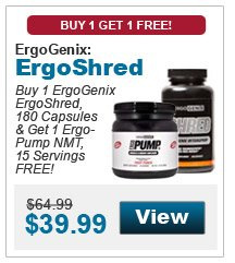 Buy 1 ErgoGenix ErgoShred, 180 Capsules & get 1 ErgoPump NMT, 15 Servings FREE!
