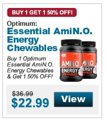Buy 1 Optimum Essential AmiN.O. Energy Chewables & get 1 50% OFF!