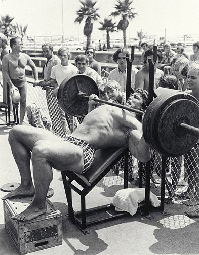Arnold may not have been the strongest, but his physique drew the crowds.