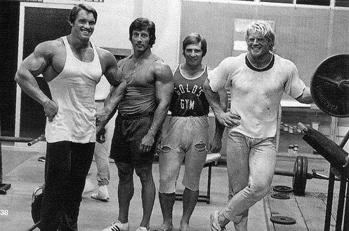 Golden age bodybuilder chic.