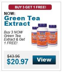 Buy 3 NOW Green Tea Extract & get 1 FREE!