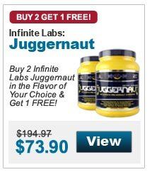 Buy 2 Infinite Labs Juggernaut in the Flavor of Your Choice & Get 1 FREE!