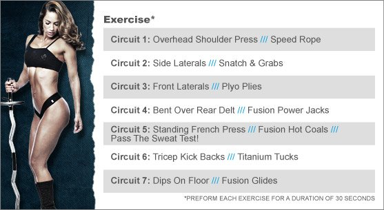 Week 1: JNL FUSION - SHOULDER SHREDDER & TRIPLE TRICEP THREAT