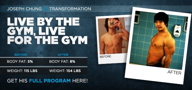 Body Transformation: Live By The Gym, Live For The Gym