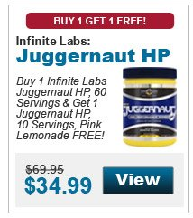 Buy 1 Infinite Labs Juggernaut HP, 60 Servings & get 1 Juggernaut HP, 10 Servings, Pink Lemonade FREE!