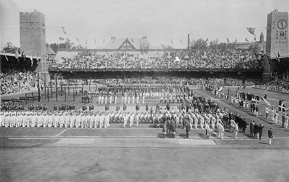 1912 Olympic Opening Ceremony.