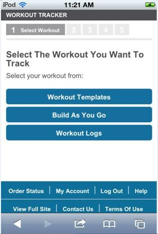 Mobile Workout Tracker